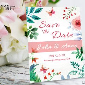 【彩蝶飛舞】喜帖 PN.772
